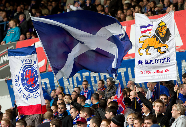Rangers fans before the match cranking up the atmosphere