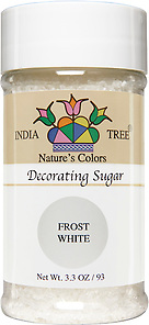 10251 Nature's Colors White Decorating Sugar, Small Jar 3.3 oz