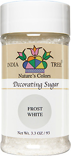 10251 Nature's Colors Frost White Decorating Sugar, Small Jar 3.3 oz