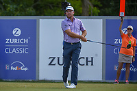 Graeme McDowell (NIR) watches his tee shot on 18 during Round 2 of the Zurich Classic of New Orl, TPC Louisiana, Avondale, Louisiana, USA. 4/27/2018.<br /> Picture: Golffile | Ken Murray<br /> <br /> <br /> All photo usage must carry mandatory copyright credit (&copy; Golffile | Ken Murray)