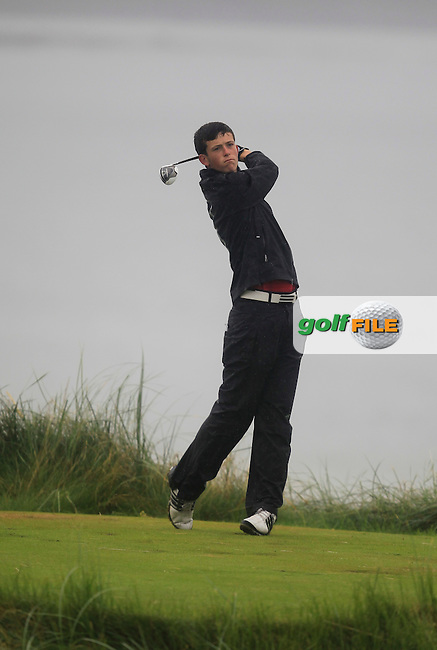 Ryan McKinstry (Cairndhu) on the 7th tee during the South of Ireland Amateur Open Championship Semi-Finals at Lahinch Golf Club  31th July 2013 <br /> Picture:  Thos Caffrey / www.golffile.ie