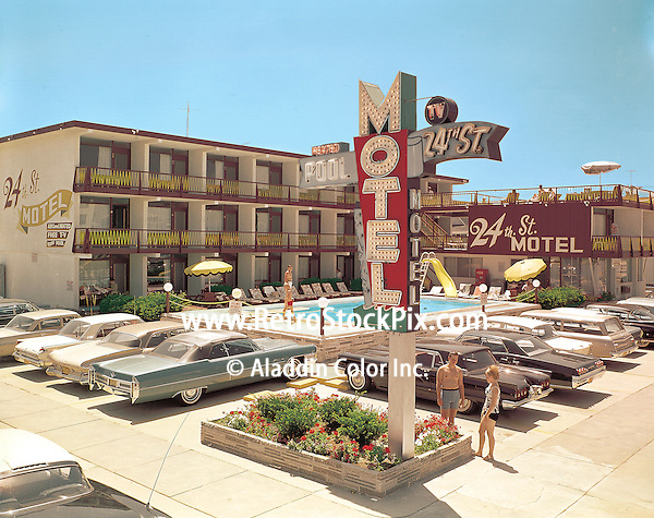 The 24th Street Motel from 1966. Motel was demolished in 2005.