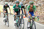 Part of the 19 man breakaway group Matteo Trentin (ITA) Quick-Step Floors and Jaime Roson Garcia (ESP) Caja Rural-Seguros RGA climb the Cat1 Collado Bermejo during Stage 10 of the 2017 La Vuelta, running 164.8km from Caravaca A&ntilde;o Jubilar 2017 to ElPozo Alimentaci&oacute;n, Spain. 29th August 2017.<br /> Picture: Unipublic/&copy;photogomezsport | Cyclefile<br /> <br /> <br /> All photos usage must carry mandatory copyright credit (&copy; Cyclefile | Unipublic/&copy;photogomezsport)