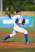 Burlington Royals starting pitcher Andre Davis (31) in action against the Princeton Rays at Burlington Athletic Stadium on June 24, 2016 in Burlington, North Carolina.  The Rays defeated the Royals 16-2.  (Brian Westerholt/Four Seam Images)