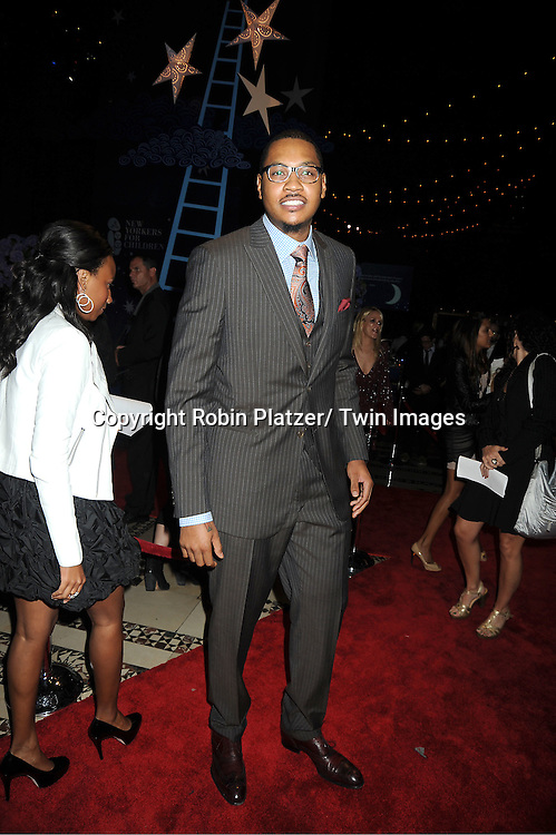Carmelo Anthony attends The New Yorkers for Children 2011 Fall Gala .on September 20, 2011 at Cipriani 42nd Street in New York City. Carmelo Anthony was honored.