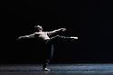 "Svetlana Zakharova, the Bolshoi's Prima and the first and only Russian Etpile at Teatro alla Scala, returns to the London Coliseum, with MODANSE, a new double bill produced by Muzarts. Zakharova is joined on stage by a cast of dancers from the Bolshoi Ballet, including Mikhail Lobukhin, Vaycheslav Lopatin, Denis Savin, Jacopo Tissi and Ana Turazashvili. The piece shown is: 'Come un Respiro"" (Like a Breath), choreographed by Mauro Bigonzetti, in its UK premiere. The dancers are: Svetlana Zakharova, Denis Savin, Jacopo Tissi, Mikhail Lobukhin, Vyacheslav Lopatin, Ana Turazashvili, Anastasia Stashkevich, Victoria Litvinova, Marfa Fyodorova, Tatiana Osipova, Anita Pudikova, Anna Zakaraya, Karim Abdullin, Alexei Gaynutdinov, Anton Gaynutdinov. Picture shows:  Denis Savin."