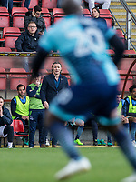 Wycombe Wanderers Manager Gareth Ainsworth watches Adebayo Akinfenwa of Wycombe Wanderers during the Sky Bet League 2 match between Leyton Orient and Wycombe Wanderers at the Matchroom Stadium, London, England on 1 April 2017. Photo by Andy Rowland.