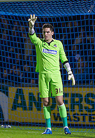 Goalkeeper Lee Nicholls of Bristol Rovers during the Sky Bet League 2 rearranged match between Bristol Rovers and Wycombe Wanderers at the Memorial Stadium, Bristol, England on 1 December 2015. Photo by Andy Rowland.