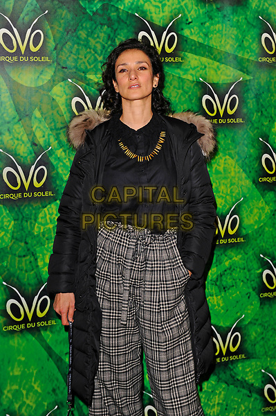 LONDON, ENGLAND - JANUARY 10:  Indira Varma attending 'Cirque du Soleil - OVO' at the Royal Albert Hall on January 10, 2018 in London, England.<br /> CAP/MAR<br /> &copy;MAR/Capital Pictures