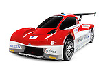2012 Mitsubishi i-MiEV Evolution electric race car isolated on white background with clipping path