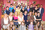 Tomas Brosnan Rossanean, Currow seated centre celebrates his 70th birthday with his family at his home on Saturday