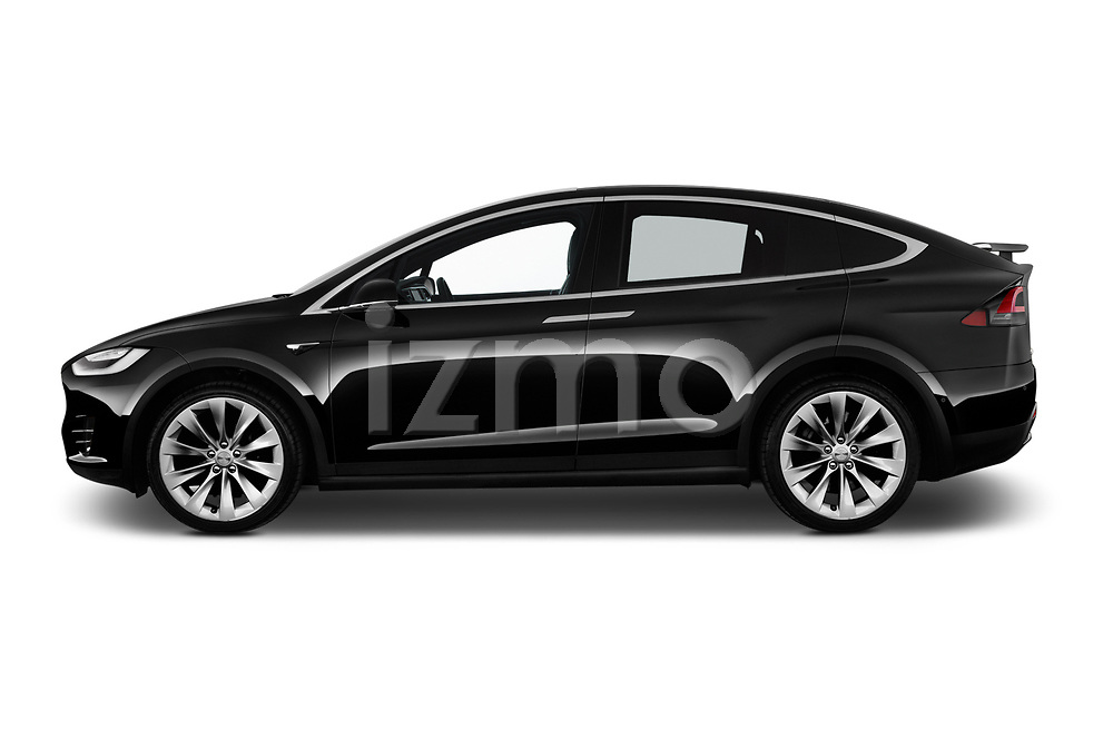Car driver side profile view of a 2019 Tesla Model X 100D 5 Door SUV