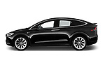 Car driver side profile view of a 2018 Tesla Model X 100D 5 Door SUV