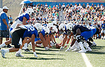 _W1_8277<br /> <br /> The BYU Football Team holds a public practice and Fan Fest at Dixie High School in St. George, Utah.<br /> <br /> 2017 BYU Football - Spring Practice March 17, 2017<br /> <br /> March 17, 2017<br /> <br /> Photo by Jaren Wilkey/BYU<br /> <br /> &copy; BYU PHOTO 2017<br /> All Rights Reserved<br /> photo@byu.edu  (801)422-7322