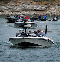 NWA Democrat-Gazette/BEN GOFF -- 04/23/15 Competitors return to Prairie Creek Marina for weigh-in on day 1 of the Walmart FLW Tour at Beaver Lake in Rogers on Thursday Apr. 23, 2015.