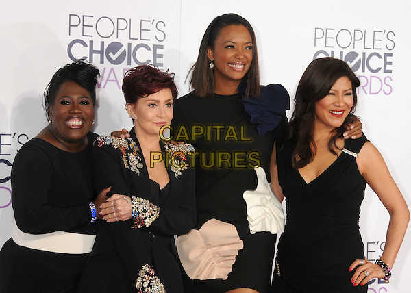6 January 2016 - Los Angeles, California - Sheryl Underwood, Sharon Osbourne, Aisha Tyler, Julie Chen. People's Choice Awards 2016 - Arrivals held at The Microsoft Theater. <br /> CAP/ADM/BP<br /> &copy;BP/ADM/Capital Pictures