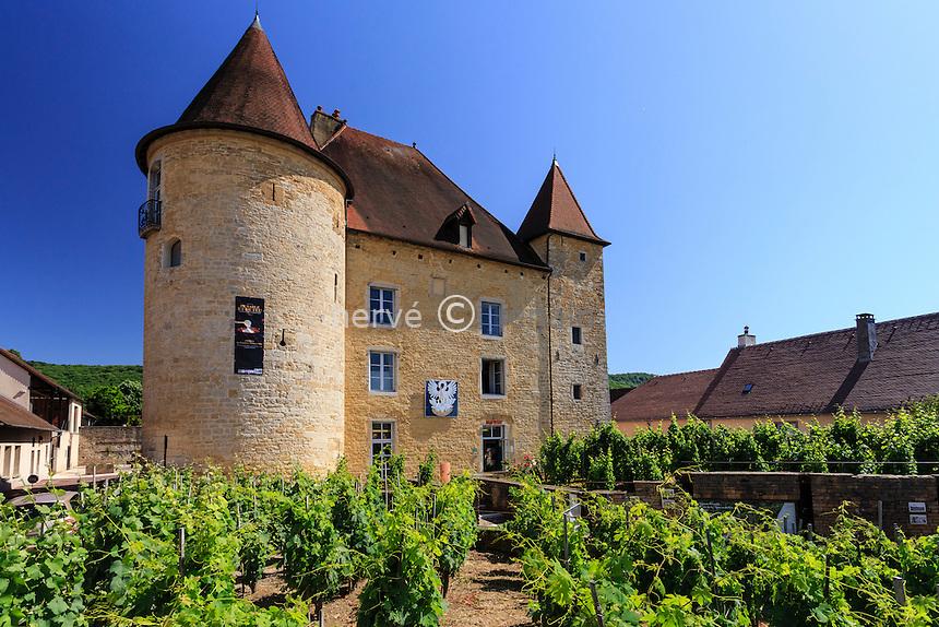 France, Jura (39), Arbois, château Pécauld, musée de la vigne et du vin // France, Jura, Arbois, Pecauld castle, Vine Museum