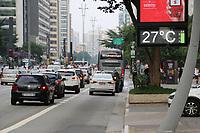 SÃO PAULO, SP, 13.04.2019: CLIMA-SP: Tarde de sol e calor na região da Avenida Paulista, em São Paulo neste sábado, 13. ( Foto: Charles Sholl/Brazil Photo Press/Folhapress)