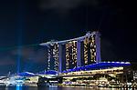 Singapore Marina Bay Sands laser light show
