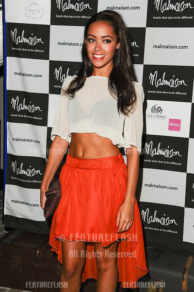 Leah Hackett arrives for the Malmaison Hotel Liverpool re-opening party...23/09/2011  Picture by Steve Vas/Featureflash