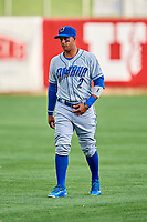 Ramon Torres (2) of the Omaha Storm Chasers before the game against the Salt Lake Bees in Pacific Coast League action at Smith's Ballpark on May 8, 2017 in Salt Lake City, Utah. Salt Lake defeated Omaha 5-3. (Stephen Smith/Four Seam Images)
