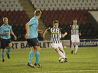 Lewis McLear in the St Mirren v Dunfermline Athletic Scottish Professional Football League Under 20 match played at the Excelsior Stadium, Airdrie on 11.12.13.