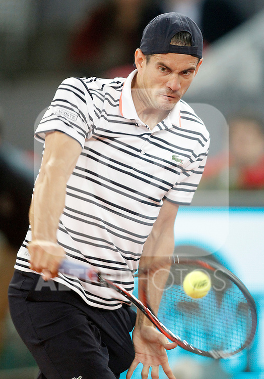 Guillermo Garcia-Lopez, Spain, during Madrid Open Tennis 2016 match.May, 2, 2016.(ALTERPHOTOS/Acero)