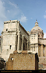 Arch of Septimius Severus and Santi Luca e Martina Forum Romanum Rome