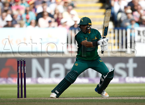 2nd September 2017, Edgbaston, Birmingham, England; Natwest T20 Blast Finals Day, Notts Outlaws versus Hampshire; Samit Patel of Notts Outlaws at the crease