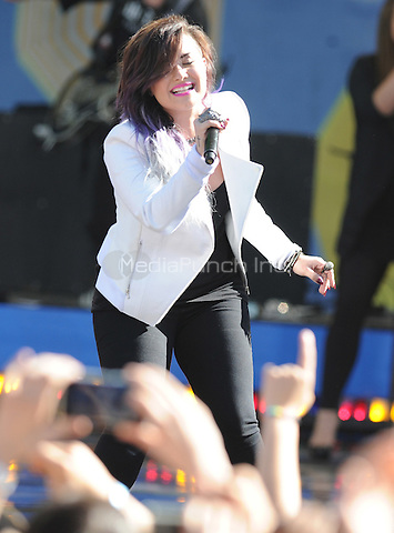 New York, NY- June 6: Demi Lovato performs  in Central Park at Rumsey Playfield  during the GMA 2014 Summer Concert Series  on June 6, 2014 in New York City. (C) Credit: John Palmer/MediaPunch.