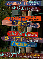 The iconic Charlotte signposts in downtown/uptown Charlotte NC. Please visit www.PatrickSchneiderPhoto.com for Charlotte's most up-to-date and extensive collection of Charlotte NC photos.