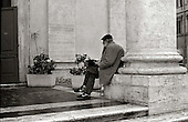 Man resting in Rome, Italy. photo by jane therese