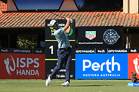 James Heath (ENG) in action on the 1st during Round 1 of the ISPS Handa World Super 6 Perth at Lake Karrinyup Country Club on the Thursday 8th February 2018.<br /> Picture:  Thos Caffrey / www.golffile.ie<br /> <br /> All photo usage must carry mandatory copyright credit (&copy; Golffile | Thos Caffrey)