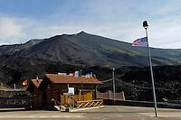 Gipfel des Etna, Sizilien, Italien , UNESCO-Weltnaturerbe