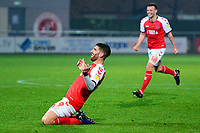 Fleetwood Town's Ched Evans celebrates scoring his side's third goal <br /> <br /> Photographer Richard Martin-Roberts/CameraSport<br /> <br /> The EFL Sky Bet League One - Fleetwood Town v Coventry City - Tuesday 27th November 2018 - Highbury Stadium - Fleetwood<br /> <br /> World Copyright &not;&copy; 2018 CameraSport. All rights reserved. 43 Linden Ave. Countesthorpe. Leicester. England. LE8 5PG - Tel: +44 (0) 116 277 4147 - admin@camerasport.com - www.camerasport.com