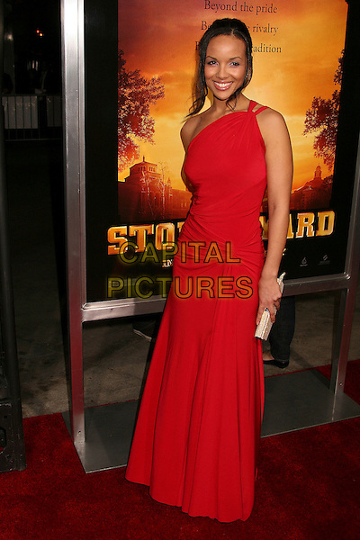 "APRIL CLARK.""Stomp The Yard"" Los Angeles Premiere at Arclight Cinemas, Hollywood, California, USA, 8 January 2007..full length one shoulder red dress.CAP/ADM/BP.©Byron Purvis/AdMedia/Capital Pictures."