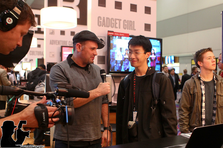 Wired Magazine CES at booth
