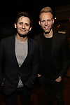 Benj Pasek and Justin Paul attends The Dramatists Guild Foundation Salon with Matt Gould on March 12, 2018 at StellarTower in New York City.