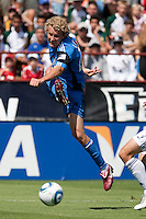 San Jose Earthquakes forward Steven Lenhart (24) kicks the ball. The San Jose Earthquakes tied the Los Angeles Galaxy 0-0 at Buck Shaw Stadium in Santa Clara, California on June 25th, 2011.