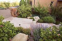 Flagstone entry path New Mexico xeriscape, dry landscape, drought tolerant garden