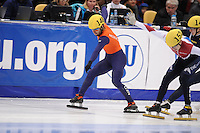 "SHORT TRACK: MOSCOW: Speed Skating Centre ""Krylatskoe"", 14-03-2015, ISU World Short Track Speed Skating Championships 2015, finish Final A 1500m Men, Sjinkie KNEGT (#148 