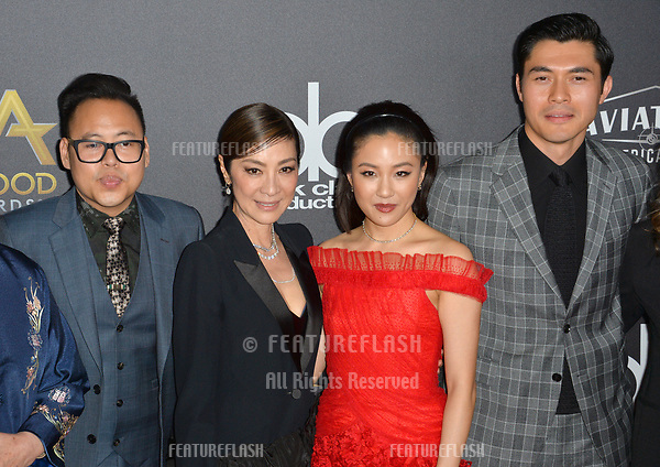 LOS ANGELES, CA. November 04, 2018: Nico Santos, Michelle Yeoh, Constance Wu &amp; Henry Golding at the 22nd Annual Hollywood Film Awards at the Beverly Hilton Hotel.<br /> Picture: Paul Smith/Featureflash