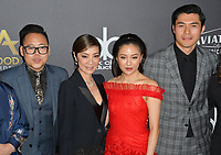 LOS ANGELES, CA. November 04, 2018: Nico Santos, Michelle Yeoh, Constance Wu & Henry Golding at the 22nd Annual Hollywood Film Awards at the Beverly Hilton Hotel.<br /> Picture: Paul Smith/Featureflash