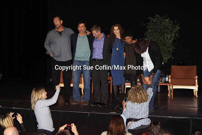 "- A Tribute to Pine Valley - All My Children's Alicia Minshew ""Kendall"", Vincent Irizarry ""David"", Darnell Williams ""Jesse"", Debbi Morgan ""Angie"", Walt Willey ""Jack"" and Jacob Young ""ex JR and ""Rick Forrester"" on The Bold and the Beautiful on February 16, 2013 with fans for Q&A, autographs, photos at Foxwoods Resorts Casino in Mashantucket, CT and February 17, 2013 at Valley Forge Casino Resort in King of Prussia, PA. (Photo by Sue Coflin/Max Photos)"