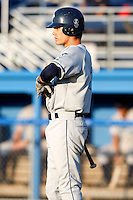 August 12, 2009:  J.R. Higley of the Vermont Lake Monsters during a game at Dwyer Stadium in Batavia, NY.  The Lake Monsters are the Short-Season Class-A affiliate of the Washington Nationals.  Photo By Mike Janes/Four Seam Images
