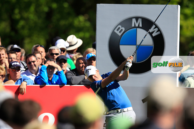 James MORRISON (ENG) during round 1 of the 2015 BMW PGA Championship over the West Course at Wentworth, Virgina Water, London. 21/05/2015<br /> Picture Fran Caffrey, www.golffile.ie: