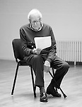 """King Lear"" rehearsed reading rehearsals. Old Vic Theatre. Director: Jonathan Miller. Tony Britton."