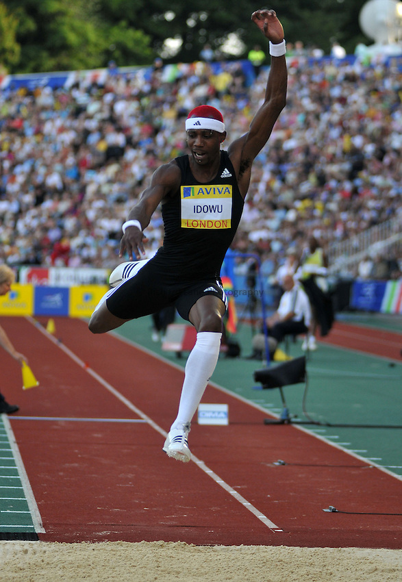 Photo: Tony Oudot/Richard Lane Photography. .Aviva London Grand Prix, Crystal Palace. 25/07/2008. .Phillips Idowu of Great Britain during the Mens Triple Jump.