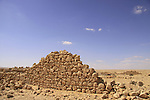 Israel, Negev, ruins of an old khan in Wadi Besor