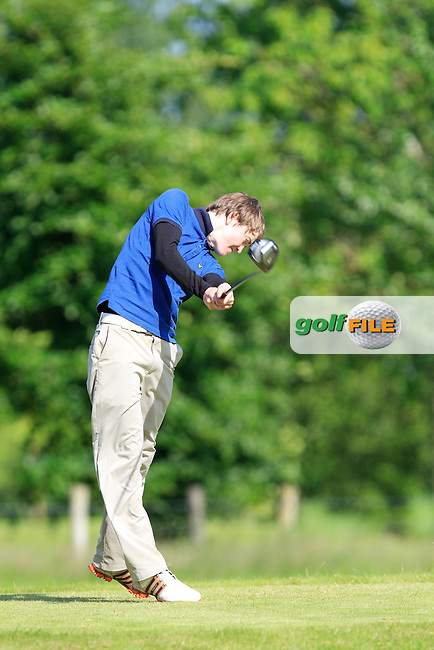 Conor Slevin (New Forest) on the 18th tee during the Leinster Youths Amateur Open Championship at Esker Hills on Monday 16th June 2014.<br /> Picture:  Thos Caffrey / www.golffile.ie